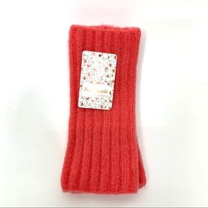 Free People Arm Warmer Fingerless Mittens Hot Pink New Fall Winter Spring